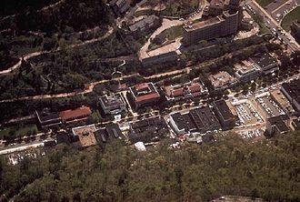 Bathhouse Row - Aerial view of Bathhouse Row