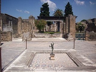House of the Faun house in historical Pompeii