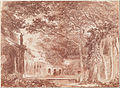 Hubert Robert - The Oval Fountain in the Gardens of the Villa d'Este, Tivoli - Google Art Project.jpg