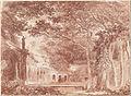 Hubert Robert - The Oval Fountain in the Gardens of the Villa d'Este, Tivoli - Google Art Project.jpg