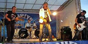 Hurd (band) - Hurd at Grand Khan pub in 2009.   From left to right : D.Otgonbayar, D.Otgonbaatar, D.Tömörtsog, N.Naranbaatar.
