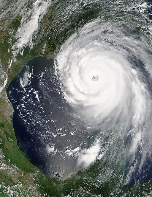 Hurricane Katrina satellite view, 28 August 2005*