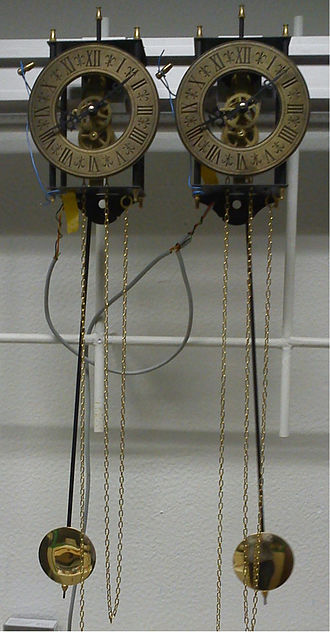 Oscillation - Experimental Setup of Huygens synchronization of two clocks