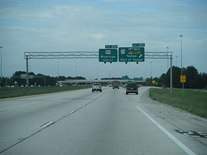 Interstate 75 in Florida - I-75 southbound at exit 256 (SR 618) in Brandon