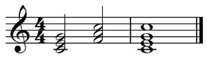 Subdominant - Image: I IV I in C