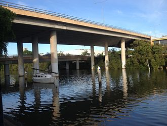 Inner City Bypass, Brisbane - ICB viaduct over the Breakfast Creek