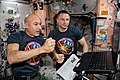 ISS-61 Luca Parmitano and Andrew Morgan review robotics procedures in the Unity module.jpg