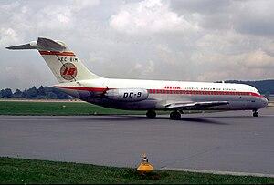 1973 Nantes mid-air collision - Image: Iberia DC 9 32; EC BIM, August 1968 ALG (5127275604)