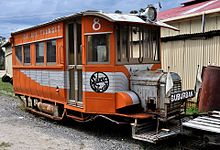 Silver Streak, railcar No 8 of the Ida Bay Railway