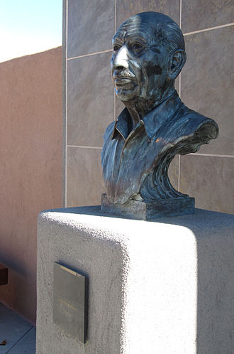 Santa Fe Opera - Bust of Stravinsky on the Stravinsky Terrace