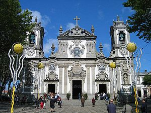 Matosinhos - The public square and the Church of Matosinhos