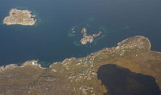 Ilimanaq - Aerial view of Ilimanaq