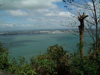 Guimaras - From Guimaras, a view of Iloilo City across the Iloilo Strait.