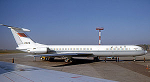 Civil Aviation Administration of China - CAAC Ilyushin Il-62 at Moscow Sheremetyevo Airport in 1974