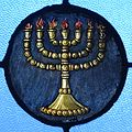 Immaculate Conception Catholic Church (Knoxville, Tennessee) - stained glass, 7 branch Menorah.jpg