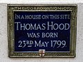 In a house on this site Thomas Hood was born 23rd May 1799.jpg