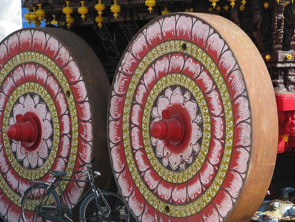 India - Kanchipuram - 023 - chariot unveiled for upcoming festival (2507526057)