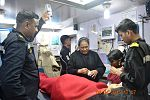 Indian Navy personnel extending medical aid to evacuees on board INS Mumbai, during Operation Raahat (1).jpg