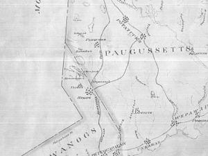 Katonah (Native American leader) - Map of Ramapoo Tribe 1625