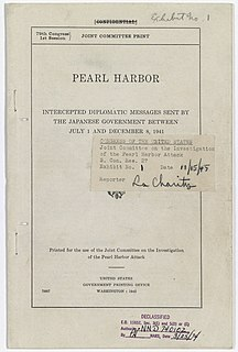United States Congressional Joint Committee on the Investigation of the Pearl Harbor Attack