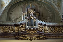 Interior of Saint Anne Church (Vienna) - Organ.jpg