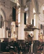 Comme peint ici par Emanuel de Witte en 1660, le calvinisme est parfois caractérisé par ses églises et son mode de vie sobres et dépouillés.