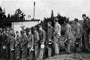 Internment camps in Sweden during World War II - An internment camp in 1940