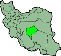 Map of Iran with याज़्द highlighted.