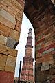 Iron Pillar with Qutub Minar.JPG