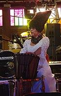 Iryna Kovalenko (DakhaBrakha) (Haldern Pop 2013) IMGP6681 smial wp.jpg