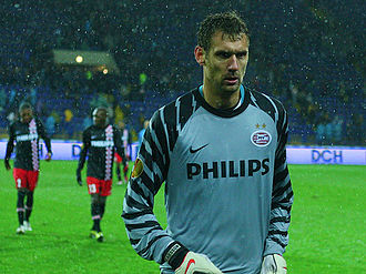 Andreas Isaksson - Isaksson playing for PSV Eindhoven in 2010