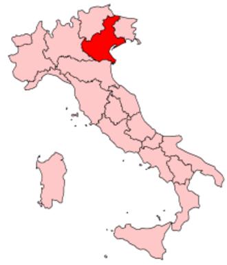 Music of Veneto - Image: Italy Regions Veneto Map
