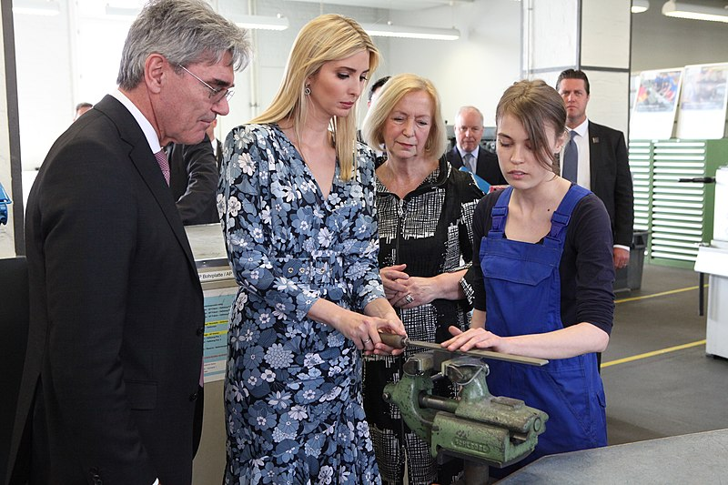 File:Ivanka Trump with Siemens CEO Joe Kaeser Siemens Technik Akademie (33881444470).jpg