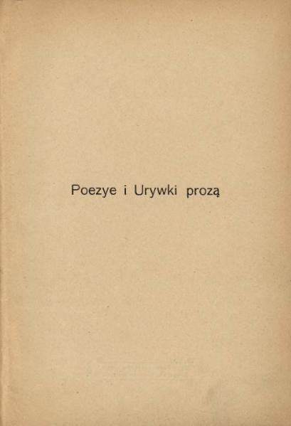 File:Józef Ignacy Kraszewski - Poezye i urywki prozą.djvu