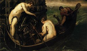 Arsinoe IV of Egypt - Rescue of Arsinoe, by Jacopo Tintoretto, 1555-1556