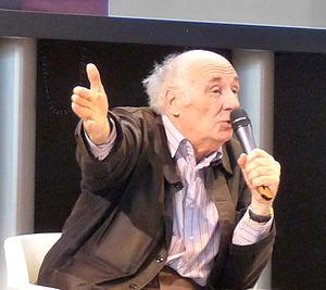 Jacques Roubaud - Roubaud speaking at the Salon du Livre de Paris in 2008