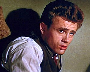 Cropped screenshot of James Dean in the traile...