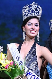Janina San Miguel Binibining Pilipinas World 2008 titleholder