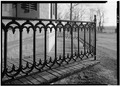 January 1975 DETAIL IRON RAIL - Isaac Kinsey House and Farm, 502 East Sarver Road, Milton, Wayne County, IN HABS IND,89-MILT.V,1-10.tif