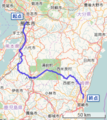 Japan National Route 0219 (OpenStreetMap).png