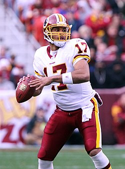 539d03702 Quarterback Jason Campbell played for the Redskins from 2005–2009
