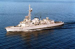 Opération Daguet - Jean de Vienne (D-643) on patrol as part of the Maritime Interdiction Force