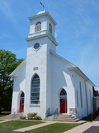 West Rockhill Township, Bucks County, Pennsylvania - Image: Jerusalem Lutheran Church, Sellersville, Bucks Co PA 01