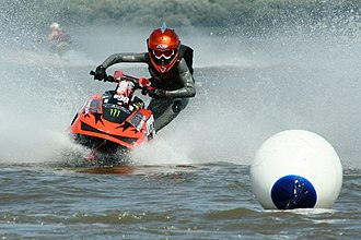 Watercraft - Racing scene of a personal water craft