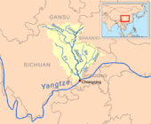 Jialing River in eastern Sichuan Province and Chongqing Municipality