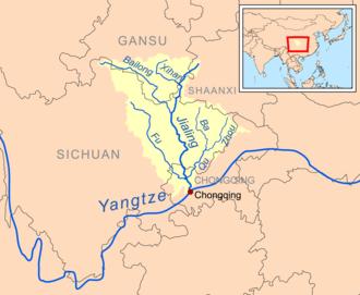 Jialing River - Image: Jialingrivermap