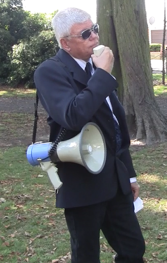 Jim Saleam - Saleam at a nationalism rally, 2013