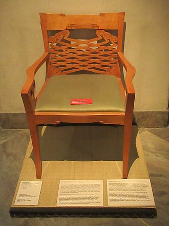 Johan Rohde - Chair designed by Rode on display in the Danish Design Museum