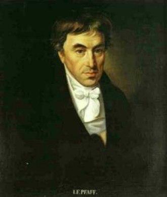 Johann Friedrich Pfaff - Johann Friedrich Pfaff