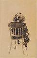 Johannessen - Solveig auf einem Stuhl sitzend von hinten - 1920.jpeg